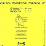 UNIVERSAL WORLDWIDE WEEKEND EP