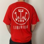 LIBERTINE RECORDS T-SHIRTS RED-M